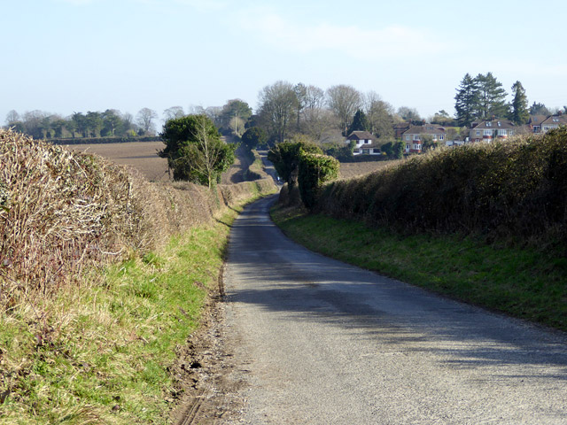 Dean Lane nearing outskirts of Winchester