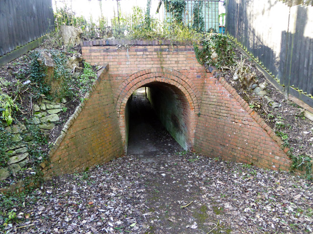 Foot subway under old railway, Whitchurch