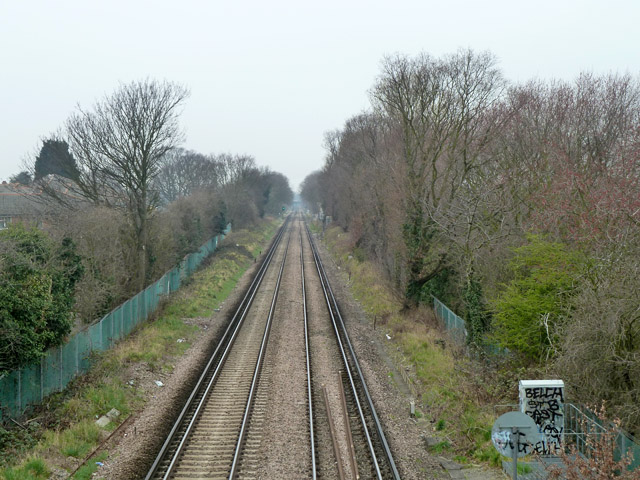 Railway between Sidcup and New Eltham