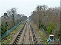 TQ4572 : Railway between Sidcup and New Eltham by Robin Webster