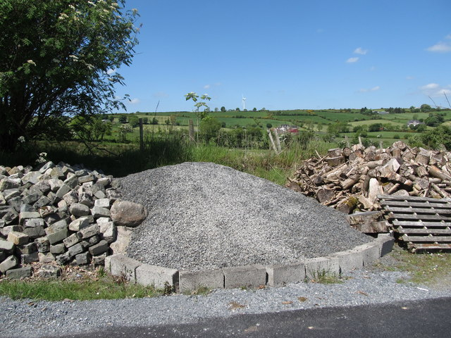 Roadside storage site on Whiterock Road