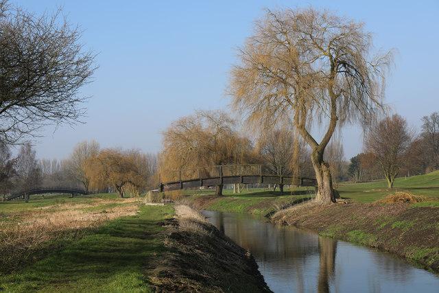 Two bridges over the River Lark
