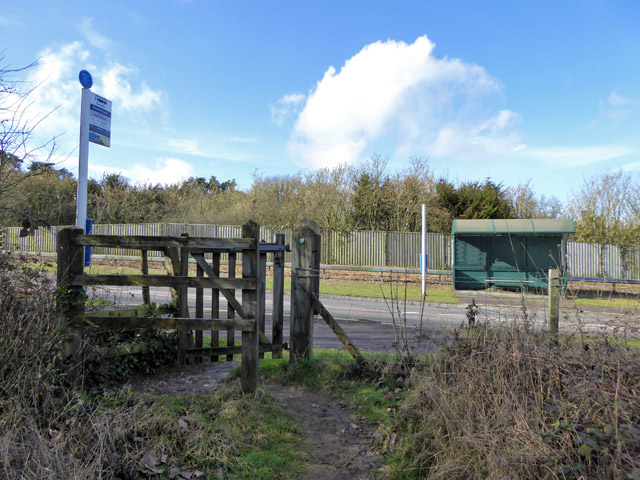 Bus stops, Shawford Down