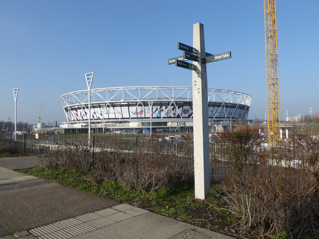 The Olympic Stadium seen from The Greenway