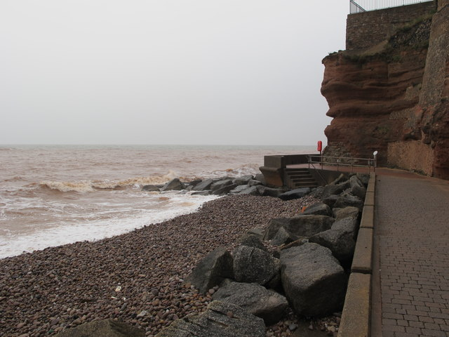 Clifton Walkway and Chit Rocks, Sidmouth