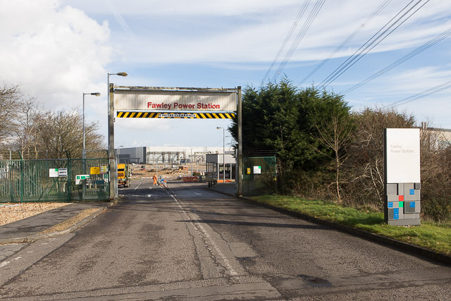Fawley Power Station entrance