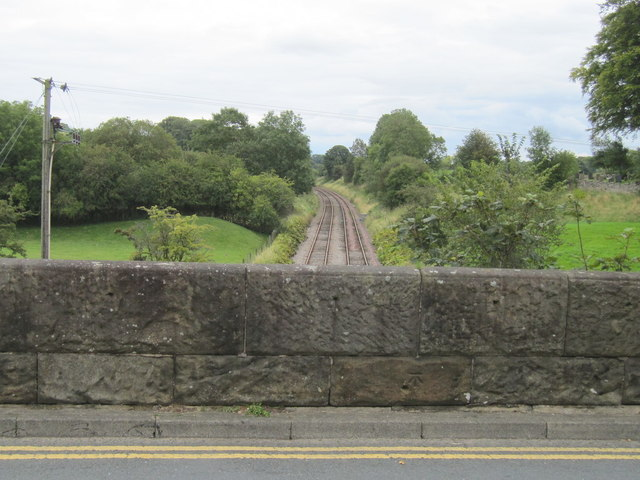 The east parapet of High bentham railway bridge