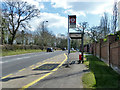 TQ2797 : Greenoak Place northbound bus stop, Cockfosters Road by Robin Webster