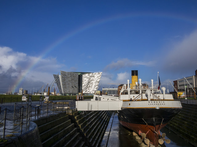The SS 'Nomadic' and 'Titanic Belfast'
