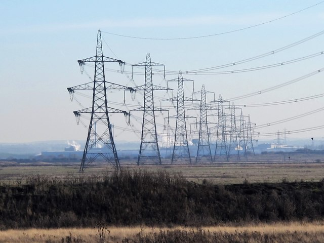 Pylons on Chetney Marshes