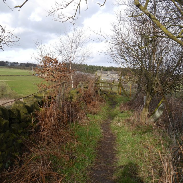 Footpath from Otley Old Road to Moorland Road