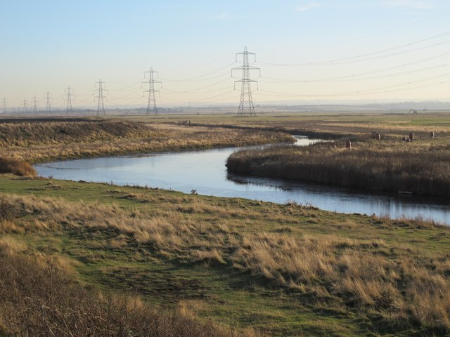 Drain on Chetney Marshes by Long Reach