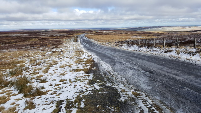 Road near St. Cuthberts Hill on Hunstanworth Moor