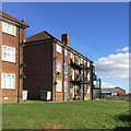 TL0622 : Rear of Dunstable Court flats, Dunstable Road, Luton by Robin Stott