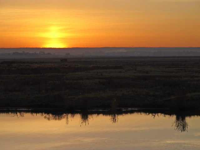 Sunset over Chetney Marshes