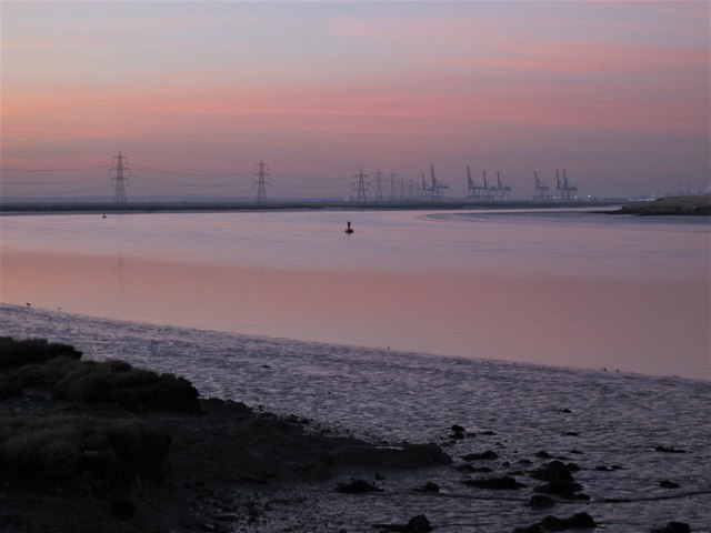 Sunset over Horse Reach, The Swale