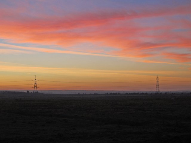 Sunset over Ferry Marshes