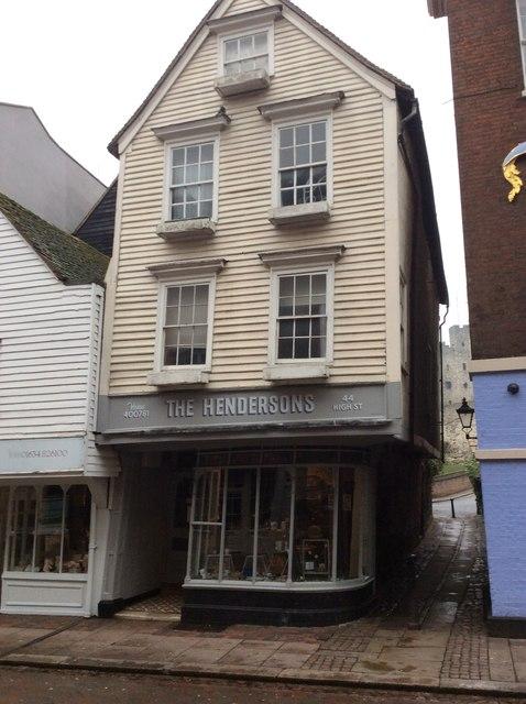 Henderson's shop,  High Street, Rochester