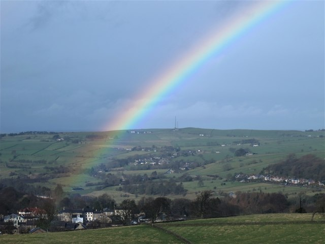 Rainbow over Allendale Town