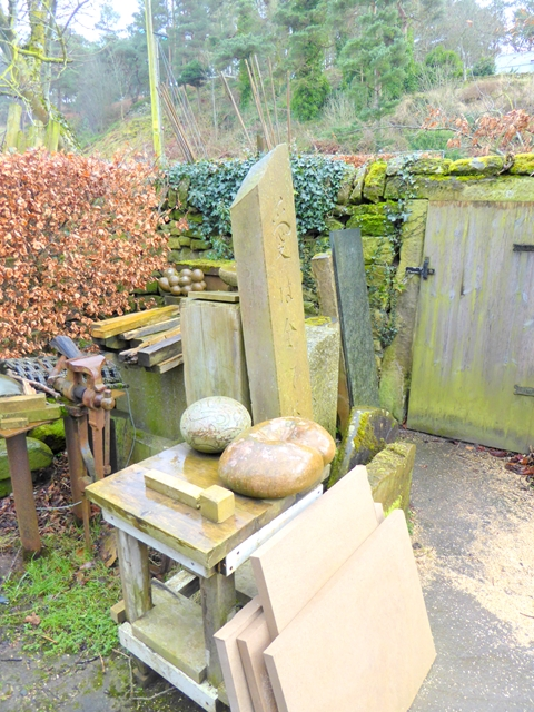 Stone masons yard at Prudhamstone House