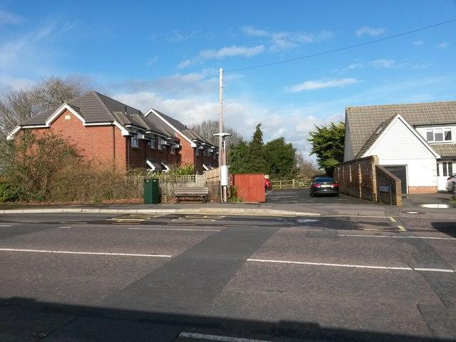 Iford: Sheepwash Lane from Castle Lane East