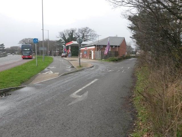 Iford: service station on Castle Lane East