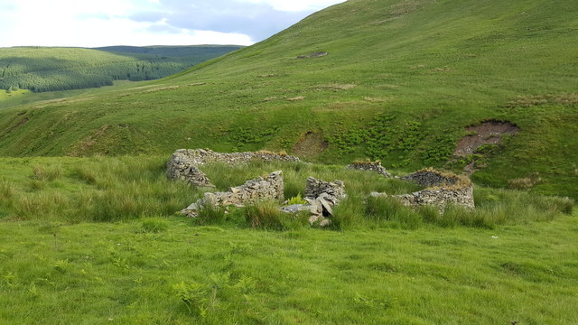 Sheepfolds either side of Kirk Burn