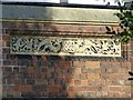 SP3066 : Datestone, Milverton Cemetery lodge by Alan Murray-Rust