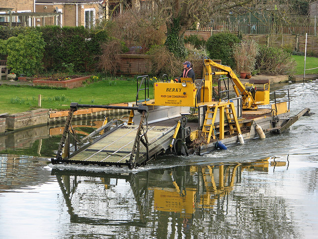 River Cam Conservancy weed harvester