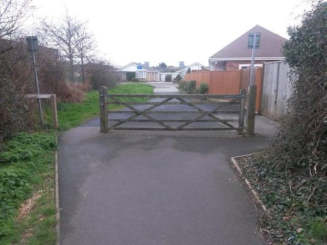 Wick: a gate across bridleway I27