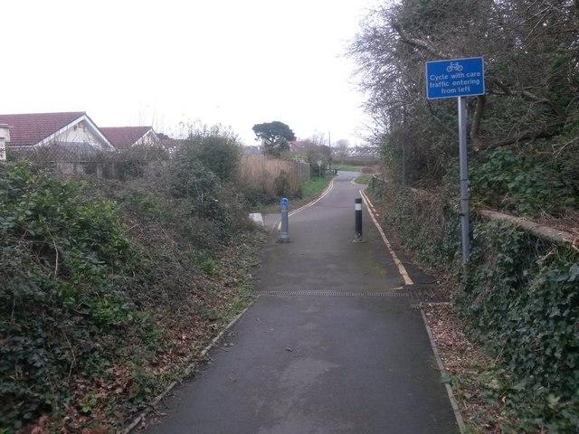 Wick: bridleway I27 reaches Wick Lane