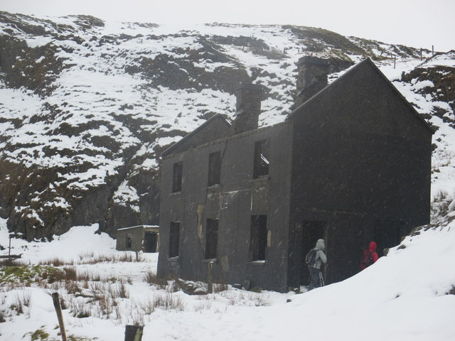 Miner's hostel for the Baryte Mines on Benbulben