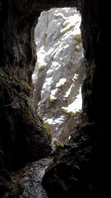 Inside Baryte mine