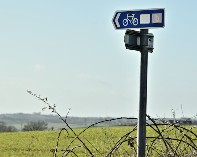 National cycle route signs, Ballyalton, Newtownards/Comber (March 2017)