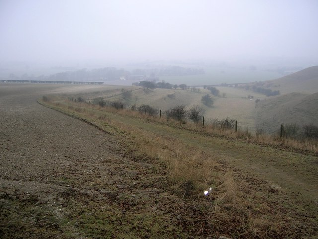 Strip lynchets at Knocking Hoe