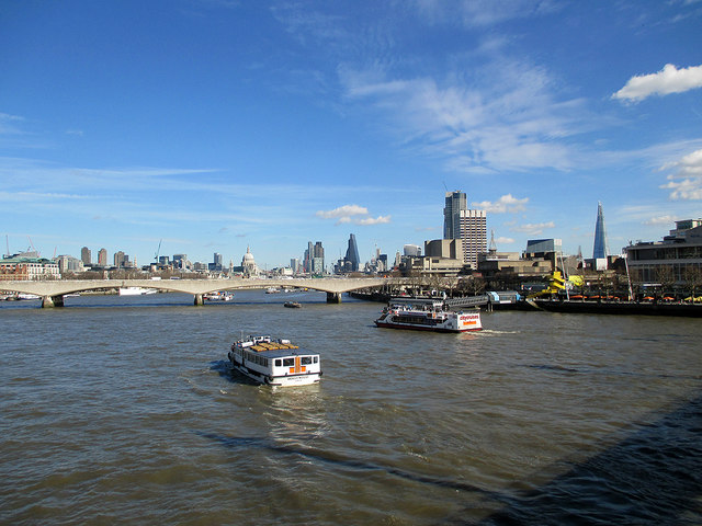 Towards Waterloo Bridge