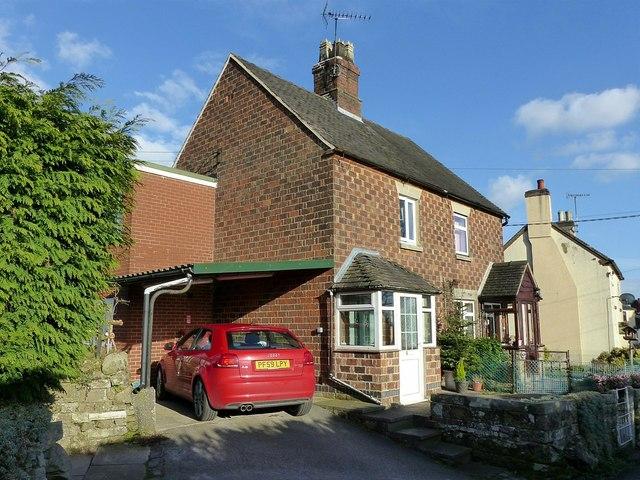 Cottages on Church Lane, Ellastone