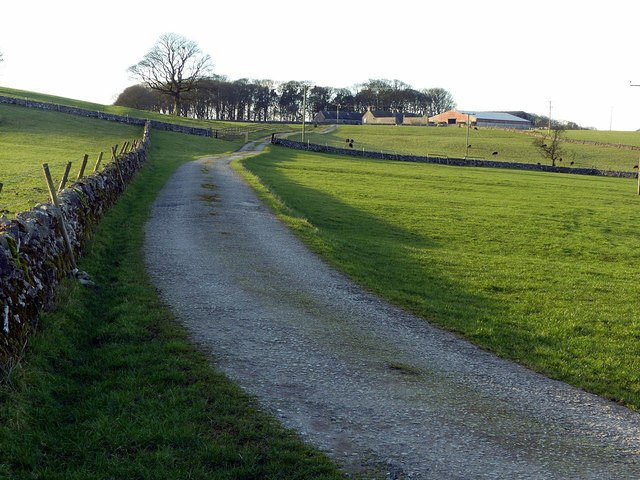 The lane to Walk Farm