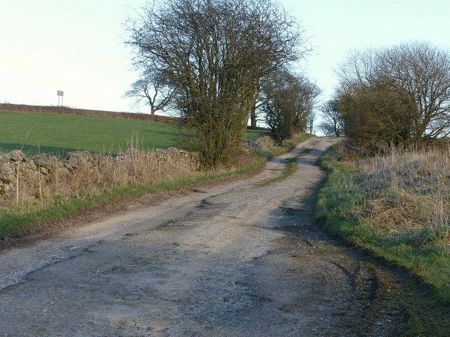 Byway near Calton Moor