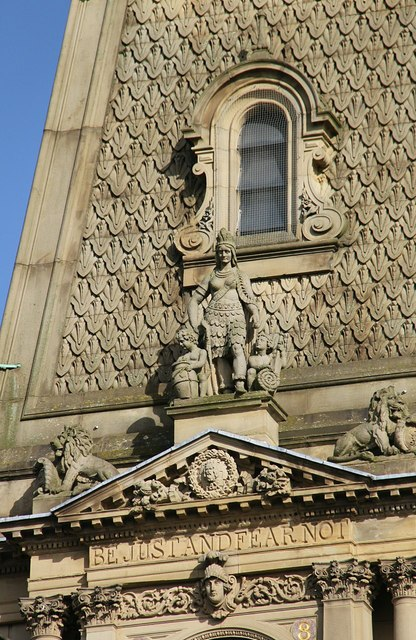Sculpture on the Town Hall, Halifax