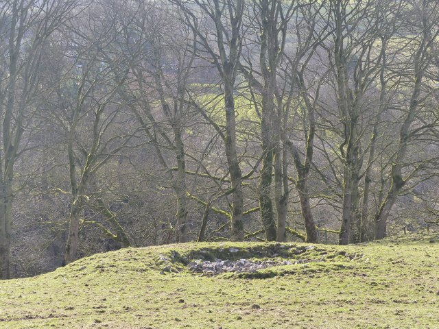 Former lead mine above Bullhay Dale