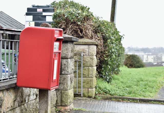 Pressed-steel postbox (BT27 19D), Lisburn (March 2017)