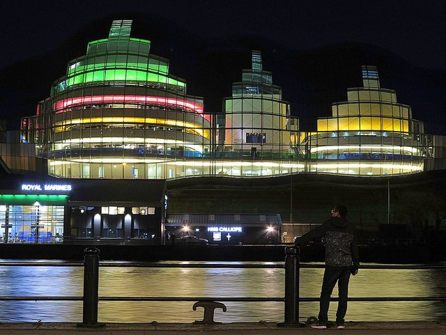 The Sage at night, from Newcastle Quayside