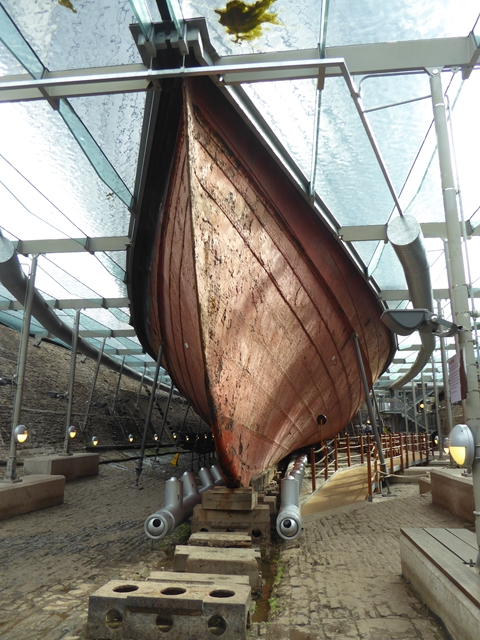 The bows of SS Great Britain