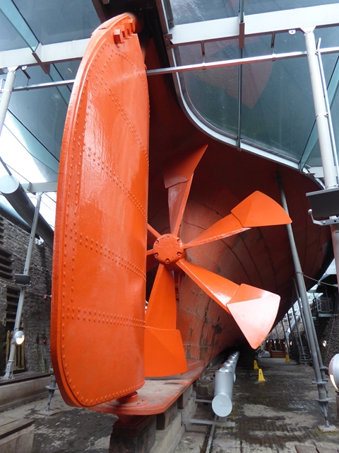 Rudder and propeller of the SS Great Britain