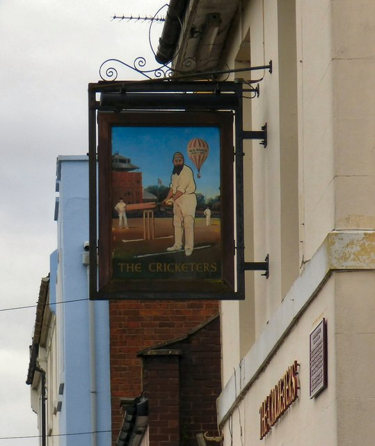 The sign of The Cricketers