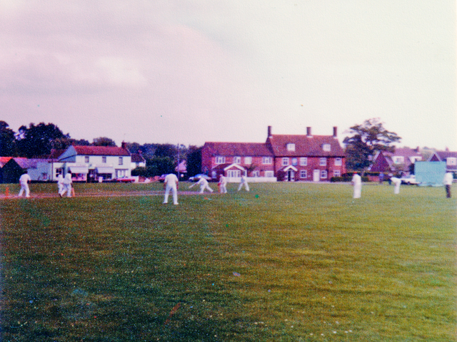 Aldborough: cricket on the green