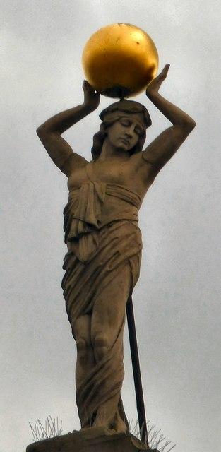 Terpischore and her globe
