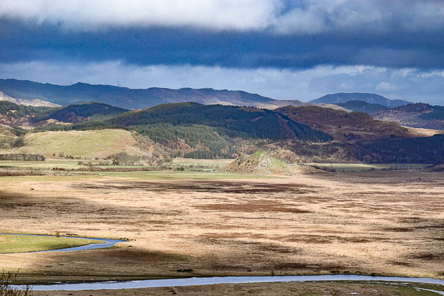 Dunadd and the River Add from Fore Druim