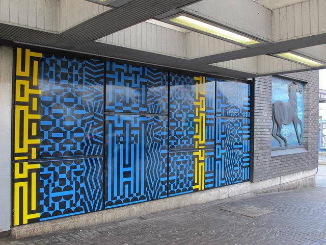 Blackhorse Road tube station entrance - ceramic tiles